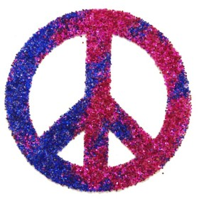 POCHOIR TATOUAGE PEACE AND LOVE