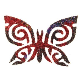 POCHOIR TATOUAGE PAPILLON TRIBAL