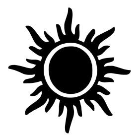 Pochoir tatouage soleil