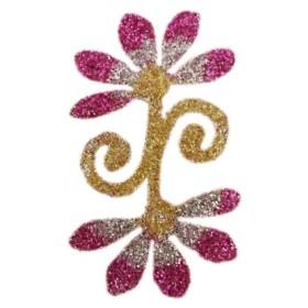 Pochoir tatoo paillettes fleur
