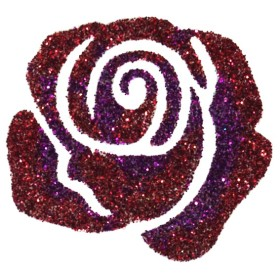 Pochoir tattoo rose