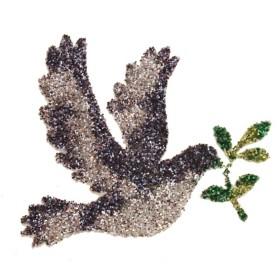 Pochoir tatouage colombe de paix