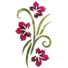 Pochoir tatouage bouquet fleuri