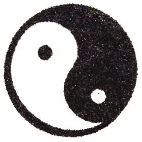 Pochoir tatouage yin et yang