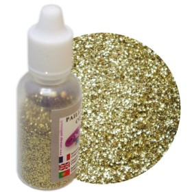 FLACON 10 GR OR ROYAL PAILLETTES COSMETIQUES