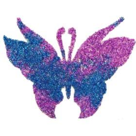 Pochoir tattoo paillette papillon