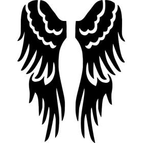 Pochoir tatouage temporaire ailes d ange