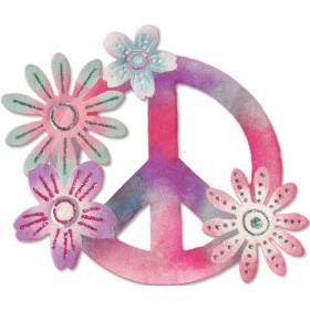 Pochoir peace and love pour decoration