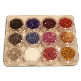 Assortiment degrade de paillettes cosmetiques