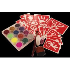Kit complet 20 tattoos avec paillettes